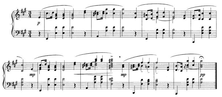 Dla zmyłki zapis utworu nie-Mozarta - kto zgadnie zaś czyjego, czeka nagroda (uścisk dłoni prezesa) /za: wiki (dom. publ.)
