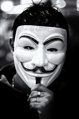 V jak Vendeta, czyli symbol społecznego oporu. /źródło: flickr; jacsonquerubin (CC BY-NC-SA 2.0)