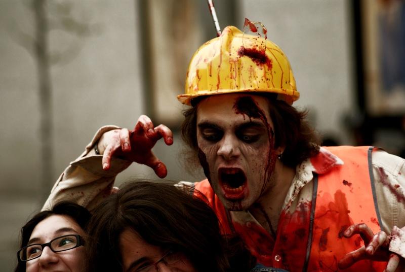 Atak zombi. /źródło: flickr; ojonudo (CC BY 2.0)