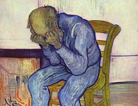 Wycinek autoportretu Vincenta van Gogha, który cierpiał na ciężką depresję. O stanie jego jelit nie wiemy jednak wiele.