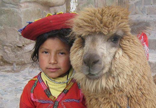 Dziewczynka należąca do peruwiańskiego ludu Keczua. /źródło: wiki;  Donkeet (CC BY-SA)