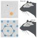 Porównanie aktywności komórek miejsca (na górze) oraz komórek sieci (na dole). Komórki miejsca uaktywniają się dla tylko jednych koordynatów przestrzennych. Komórki sieci uaktywniają się dla licznych koordynatów - koordynate te jednak są niezwykle regularne i tworzą sieć heksagonalną.