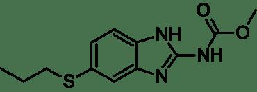 Albendazol - jeden lek przeciwpasożytniczy, który na tego tasiemca nie pomoże. /źródlo: wiki